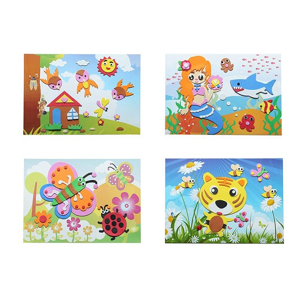 ABMS009 Custom Design Cute Sticky Foam Mosaic Sticker