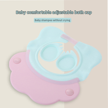 Close Ear Protection Doubled Waterproof Elastic Baby Shampoo Cap
