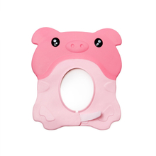 Cartoon Piggy Waterproof Silicone Baby Bath Cap