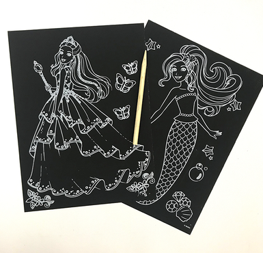 Instruction of Scratch Art Paper