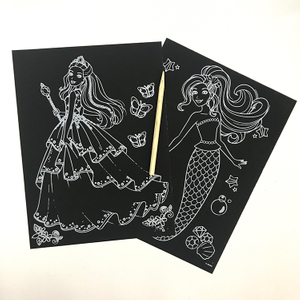 Handmade Diy Scratch Art Paper For Kids
